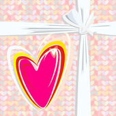 Drawing Heart — Stock Vector