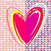 Drawing Heart — Stock Photo