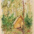 Постер, плакат: Drawing Tourist Tent
