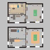 Plan de maison — Vecteur