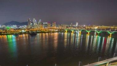 Seul miasta 254 autostrady most ruchu — Wideo stockowe