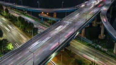 Seul miasta 257 autostrady most ruchu — Wideo stockowe