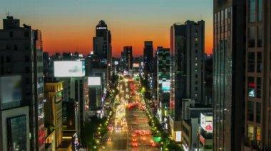 Seul miasta 262 ponury zmierzchu — Wideo stockowe