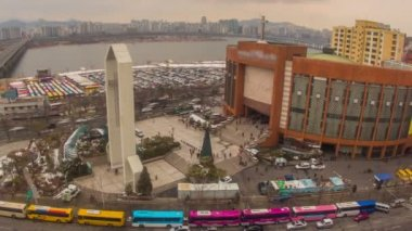 Iglesia del evangelio completo de yoido ciudad seúl — Vídeo de stock