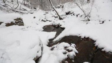 Snowy Korean Mountains — Stock Video