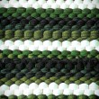 Green and White Color Knitted Pattern — Stock Photo