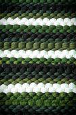 Yeşil ve beyaz renkli örgü deseni — Stok fotoğraf