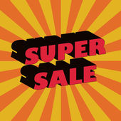 Super sale design template. — Stockvektor
