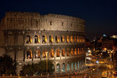 Coliseum at night — Stock Photo
