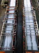 Saline factory production line — Stock Photo
