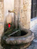 Fontein in rhodes griekenland — Stockfoto