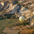 hot air balloon in valley at cappadocia turkey — Stock Photo