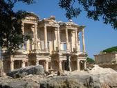 Turkey Ephesus library ancient ruins — Stock Photo