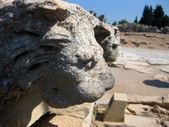 Lion sculptures at Ephesus — Stock Photo