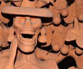 Catrina clay sculpture — Stock Photo