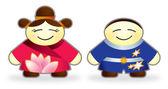 Happy chinese children — Stock Photo