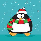 Holiday penguin weird — Stock Vector