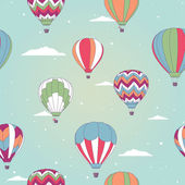 Retro hot air balloon — Vector de stock