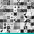 100 vector seamless patterns set — Stock Vector