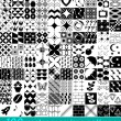 100 vector seamless patterns set — Imagen vectorial