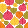 Vector seamless pattern with colorful autumn leaves. Autumn leaves — Stock Vector