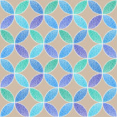 Vector seamless doodle pattern — Stock Vector