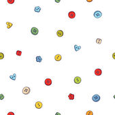 Pattern with buttons — Stock Vector