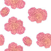 Nahtloser vektor-muster mit rosen — Stockvektor