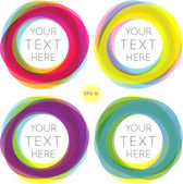 Text frames set. Elements for design — Stock Vector