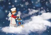 Cooking angel figure — Stock Photo