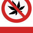 Prohibition of marijuana — Stock Photo