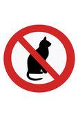 禁止猫的迹象 — 图库照片