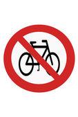 Förbud mot cykeln — Stockfoto