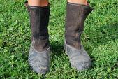 Pracovní gumové boty — Stock fotografie