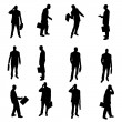 Silhouettes of businesspeople — Stock Vector