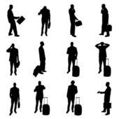 Silhouetten der wirtschaftler — Stockvektor