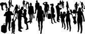 Vector Silhouettes of businesspeople — Stock vektor