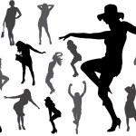 Vector silhouettes of sexy women. — Stock Vector #41206561