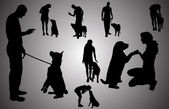 Vector silhouette of ap poeple. — Stock Vector