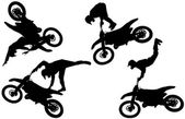 Silueta vector de motocross. — Vector de stock