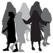 Sylwetka wektor kobiety. — Wektor stockowy