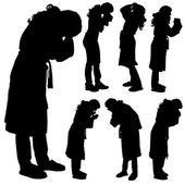 Vector silhouette of a woman. — Vector de stock