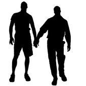 Gay vector silhouettes. — Stok Vektör