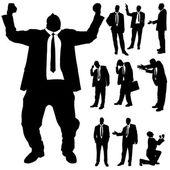 Vector silhouette of business people. — Vetor de Stock