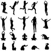 Vector silhouette of a people. — Wektor stockowy