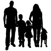 Vector silhouette of family. — Stock Vector