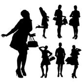Vector silhouette of a woman. — Stock vektor