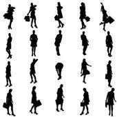 Vector silhouette of a woman. — Stock Vector