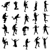 Vector silhouette of a people. — 图库矢量图片