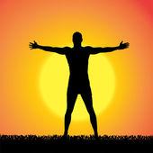 Vector silhouette of a man. — Stock Vector